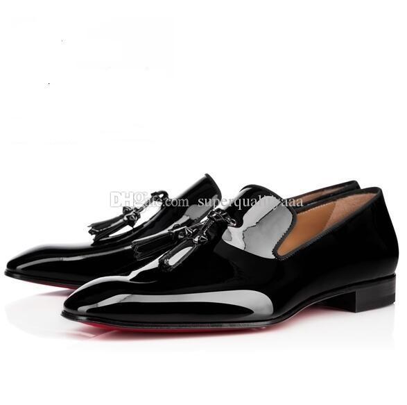 Chaussures de pissenlit de haute qualité avec des baskets à gland Gentleman rouge bas des mocassins en cuir noir Oxfords de loisirs des hommes