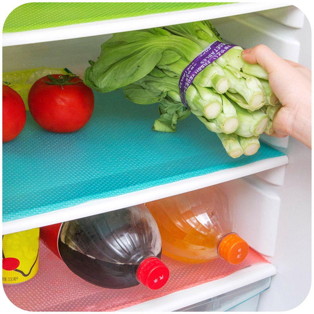 Frigo Mats frigorifero impermeabile Pad antibatterico antivegetativa muffa assorbimento dell'umidità Placemat Tavolo da pranzo Mats per la cucina