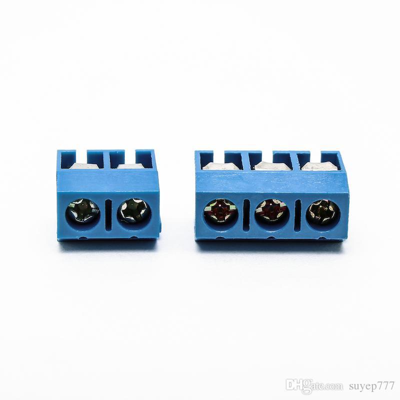 200 PCS Petits Connecteurs Électriques KF 301-2P 301-2P Bleu Cuivre 5.0mm Droite Broche PCB Terminal Bornier Connecteur Assortiment kit