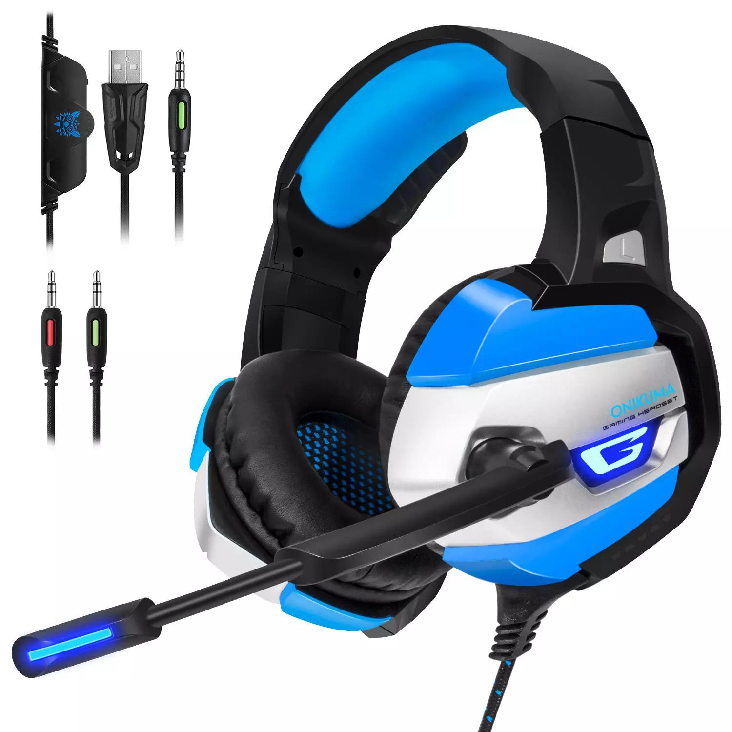 Onikuma K5 Gaming Headset Gamer Stereo Deep Bass Led Gaming Headphones For Pc Laptop Notebook Computer Ps4 With Microphone Best Earbuds Under 50 Best Headphones Under 50 From Michellemi 18 1 Dhgate Com