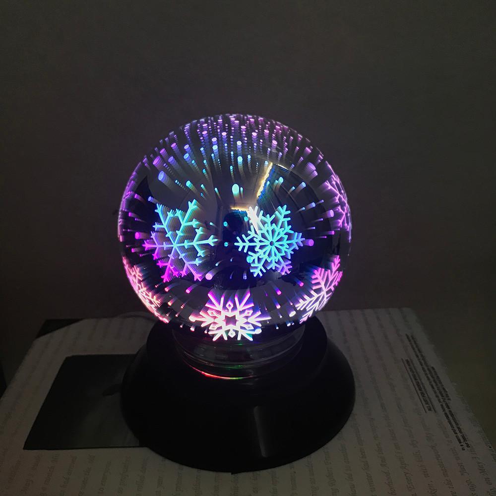 Acheter Boule Darbre De Noël USB De Charge LED Colorée 3D Magical