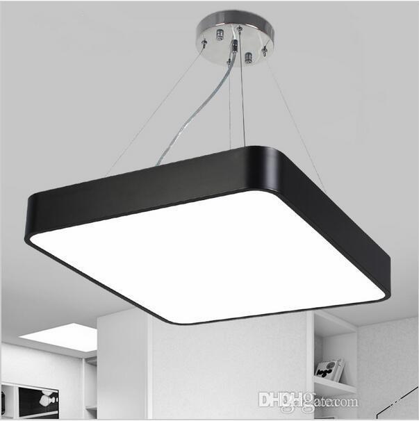 outlet store f683d fa5b5 Modern Square Pendant Light Office Suspension Lamp Aluminum Indoor Lighting  Fixture Lustre Luminaire AC85 265V UL DLC Certification Modern Pendant ...