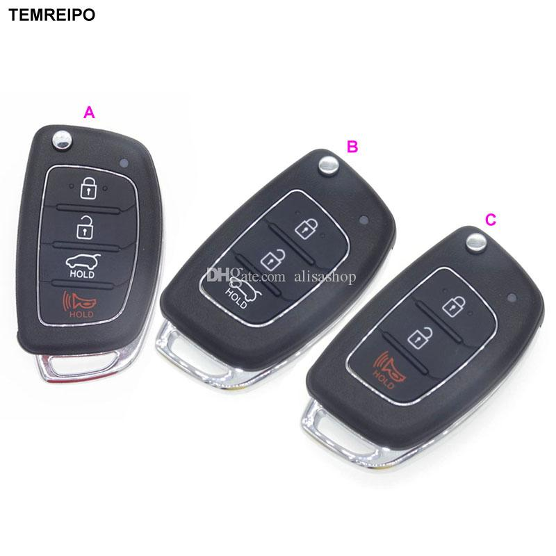 Car Remote Key Case Fob 3 Button Flip Folding Key Shell for Hyundai Solaris Elantra ix25 i40 ix35 ix45 Series 2 Verna