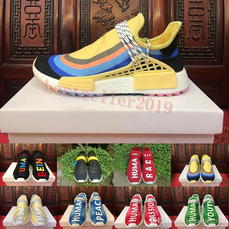 Sean Wotherspoon Human Race Hu Trail Running Shoes Pack Passion Youth Happy Peace Pharrell Williams Sports Sneakers