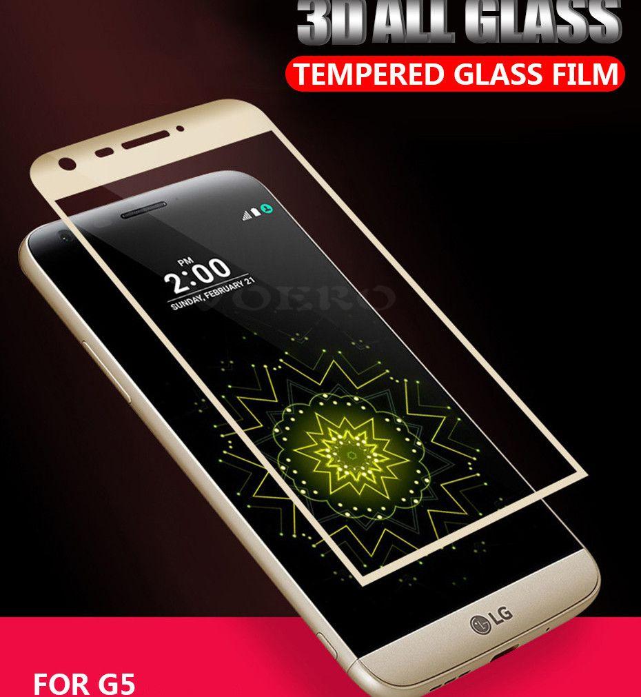 Para lg g5 v30 v35 g7 fino q v40 v50 g8 3d 0.2mm tela cheia curvo protetor de tela de vidro temperado