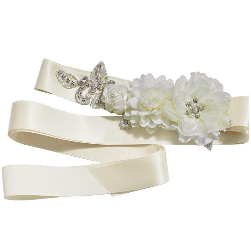 Cinture di cristallo di fiori per abiti da sposa Cinture di nozze e cinture Cintura nuziale Accessori Cinturon De Novia CPA1230
