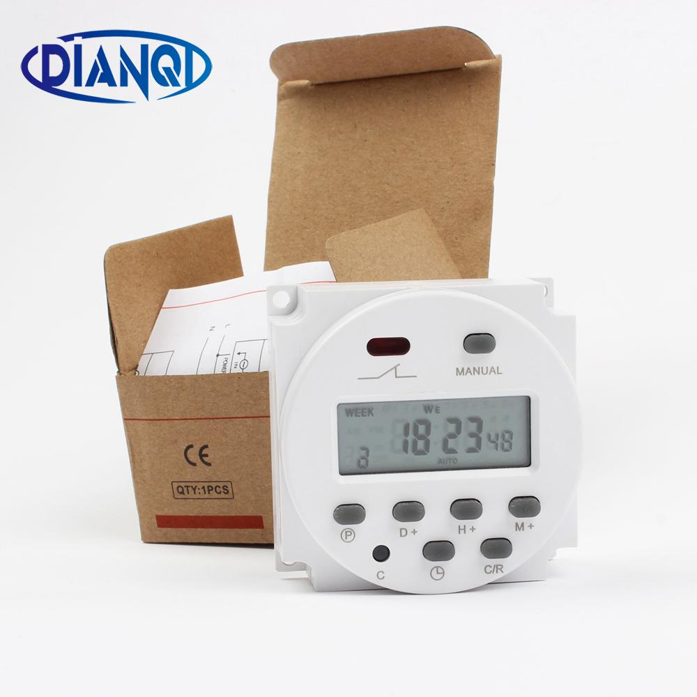 CN101A AC Digital LCD Power Timer Programmable Time Switch Relay Timers Outdoor