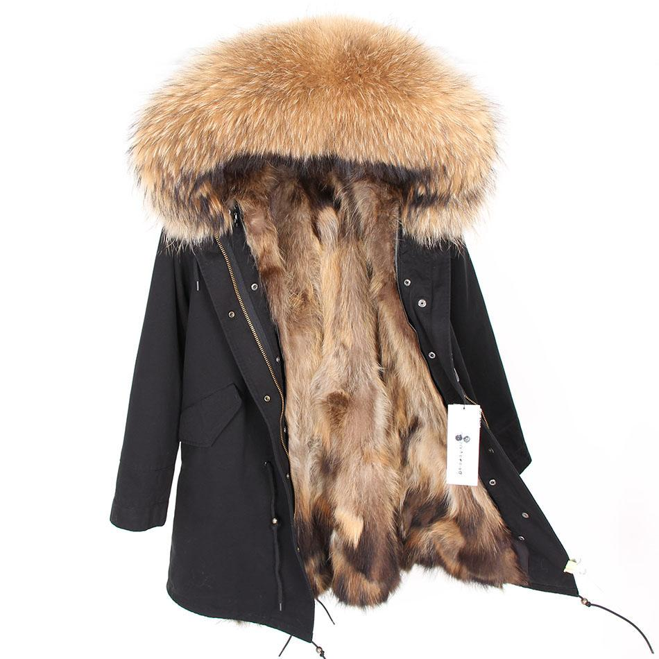 Real Fur Coat Men Winter Jacket Natural Raccoon Fur Coats Hooded Warm Long Jackets Plus Size 7xl Male Parkas