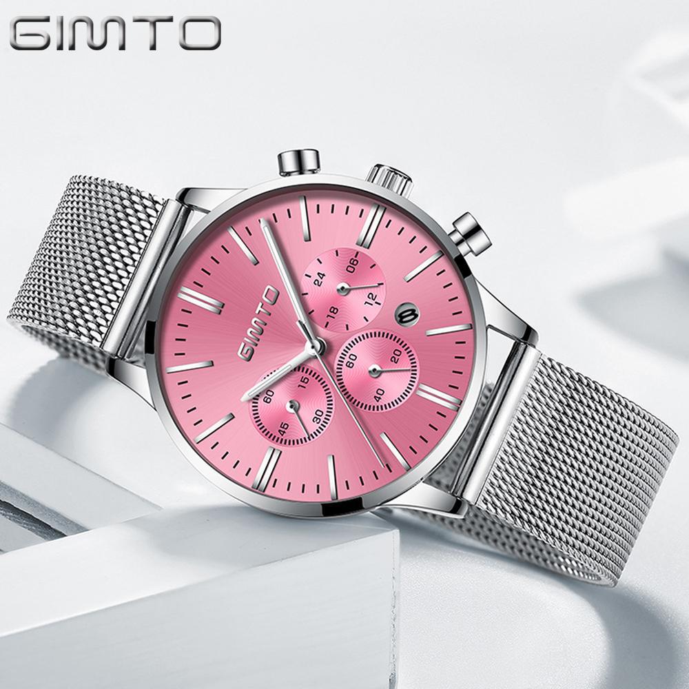 X GIMTO 2018 Moda Kadınlar Saatler Çelik Gümüş Altın Saat Spor Kuvars Bayanlar Izle Rahat Kadın Kol Saati Relogio Feminino