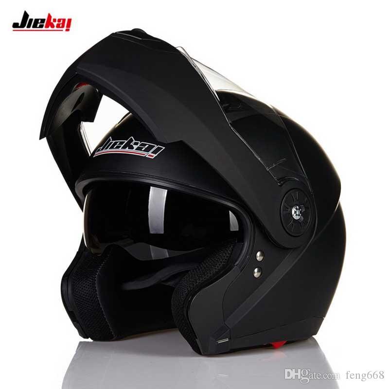 Motocross JIEKAI 115 Undrape capacete aberto, motocicleta motocross capacete preto branco azul prata tamanho M L XL XXL