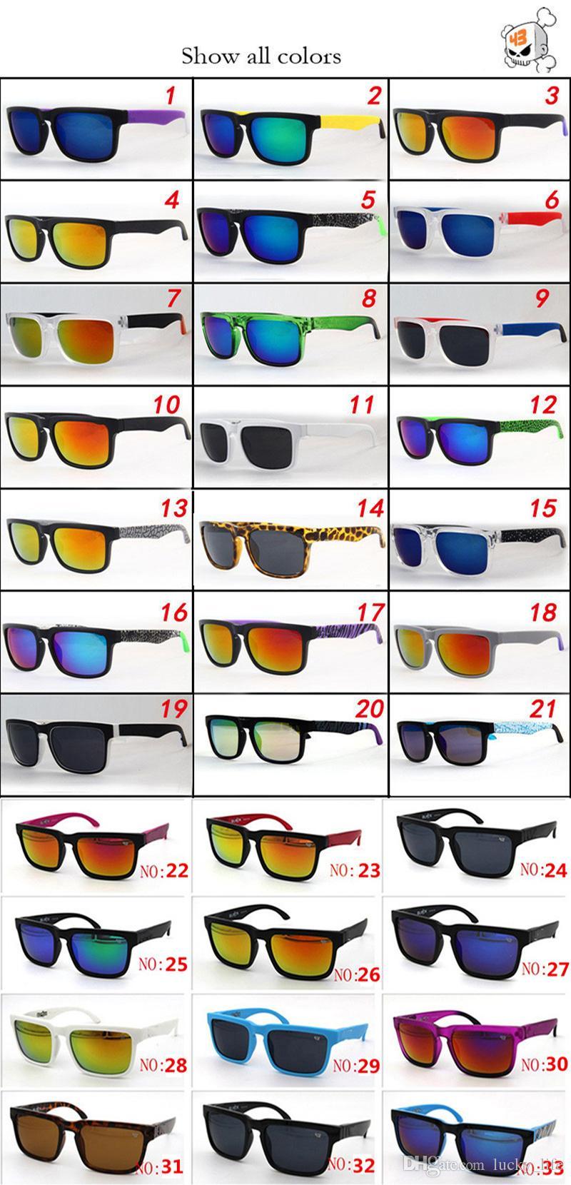 33 Kolory Lato Mężczyźni Bicykl Jazdy Okulary Plażowe Kobiety UV Okulary przeciwsłoneczne Żywicy Niebieski obiektyw Octan Sport Jazda Okulary przeciwsłoneczne Gogle