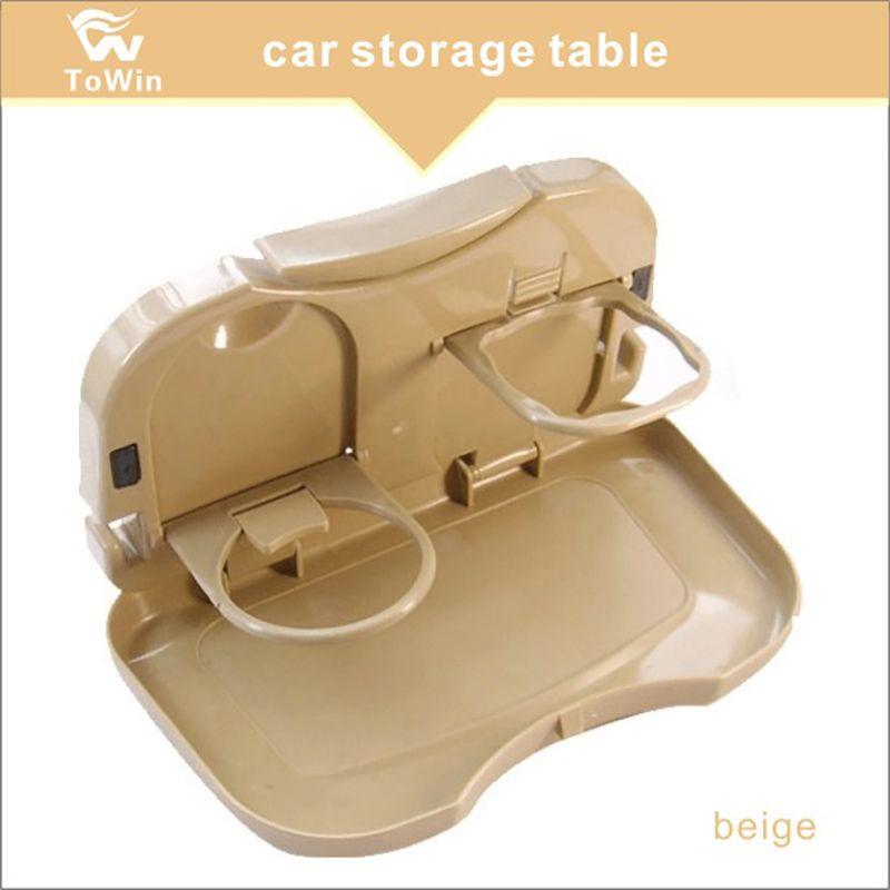 Großhandel, Fahrzeug Multifunktions faltbare Schale Rücksitz Tisch Getränk Getränkehalter Reise Speiseschale Organzier