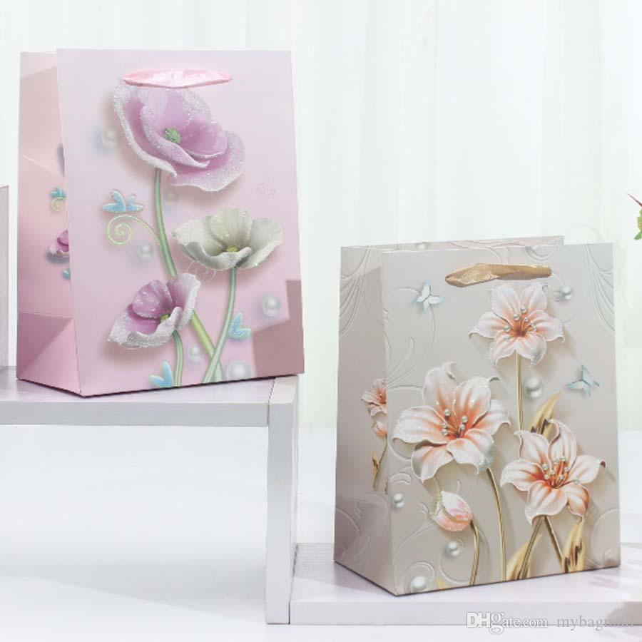 새로운 패션 웨딩 페스티벌 파티 아이보리 카드 보드 쇼핑 선물 손 가방