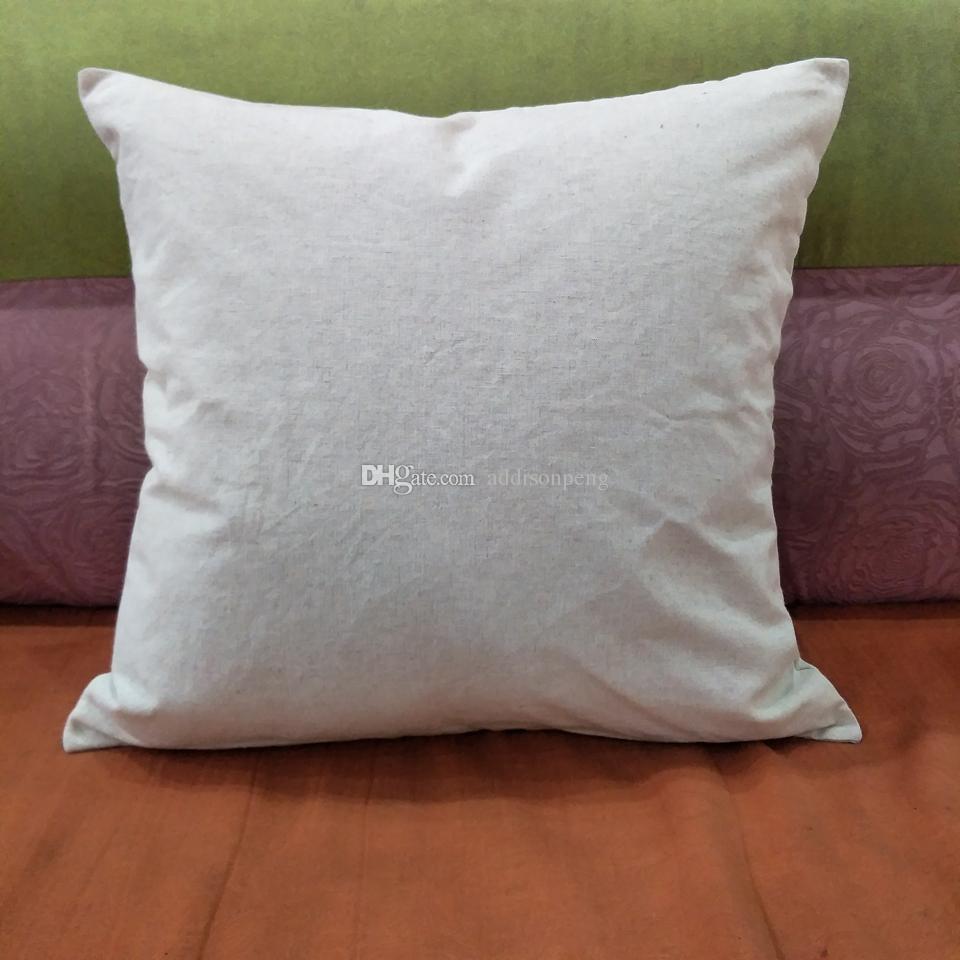 Düz doğal keten yastık kılıfı boş keten yastık örtüsü ile gizli zip en kaliteli keten yastık örtüsü