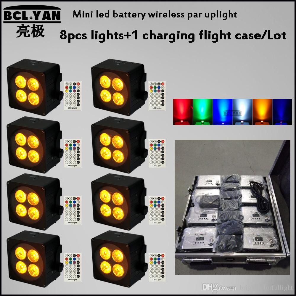 Best Quality Mini 4*18W LED Par Light Full Color battery power wireless DMX LED Par Light Indoor