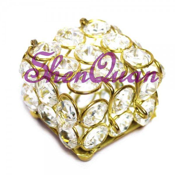 Оптовая Прекрасный хрустальный бисер железный металл Керамическая Копилка / красивая шкатулка для драгоценностей, футляр для драгоценностей для продажи онлайн