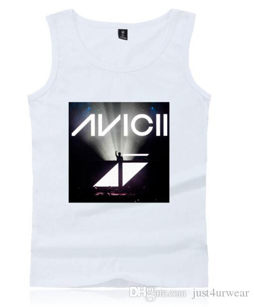 남성 속옷 여름 민소매 티셔츠 조끼 스웨덴 DJ Avicii 프린트 운동 조끼 남성 캐주얼 크루 넥 탱크 탑 Tshirt 조끼