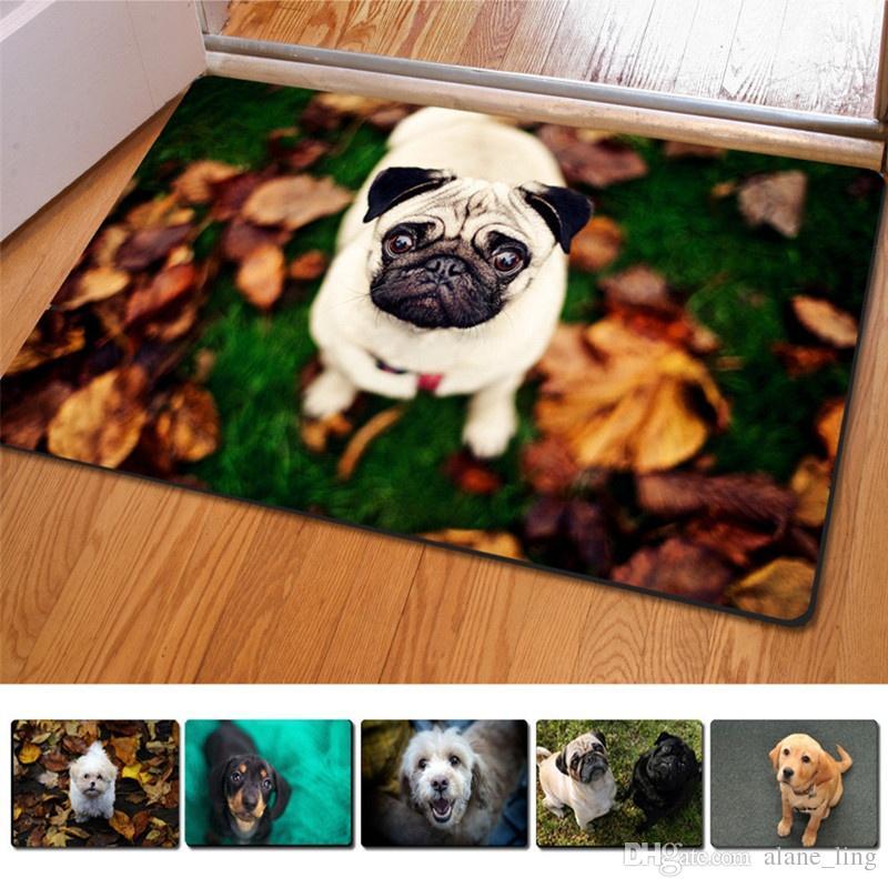 Nowy 3d piękny kreskówka pies wycieraczek bez poślizgu mata podłogowa korytarze maty dywanowa odporna na korozję maty do toalety Bathromm dywan