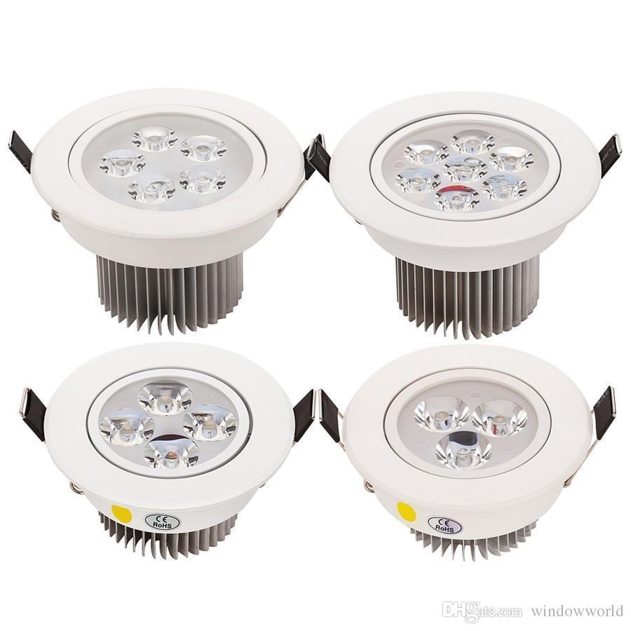 9 Watt 12 Watt 15 Watt 21 Watt Dimmbare Led-Deckenleuchten Einbauleuchten Lampe Cree Led-Deckenleuchten AC 110-240 V Weiß / Silber Shell