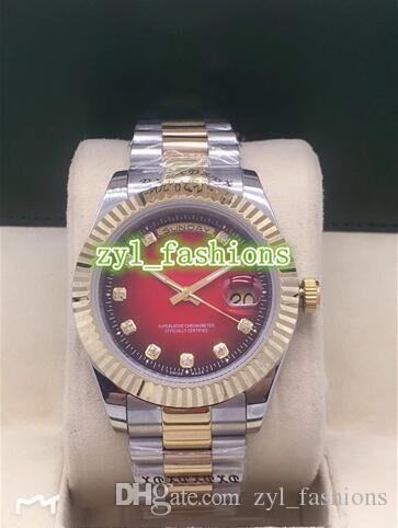Лучшие модные мужские бутик-часы роскошные автоматические механические спортивные часы Bi-gold из нержавеющей стали водонепроницаемые бизнес-часы