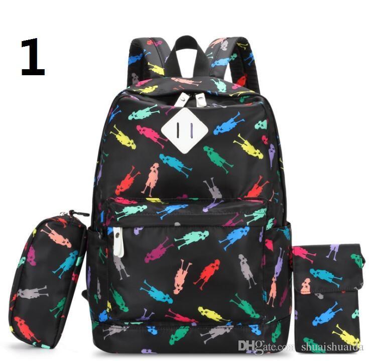 Schoolbag Zaino Zaino da viaggio Tessuto The Striped Tempo libero Fashion Canva + Oxford Borse per esterni Tessuto Zaino ad alta capacità A34 LTFLP