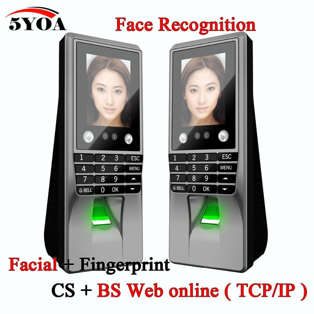 Biometric Facial Face Recognition Fingerprint Password Key Access Control Device Attendance Machine Door Lock System Electronic