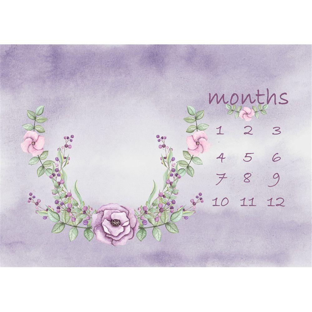 Pastel, púrpura, acuarela, fotografía, fondos, floral, guirnalda, bebé, niños, cumpleaños, recién nacido, calendario, sesión de fotos, fondo, para, estudio