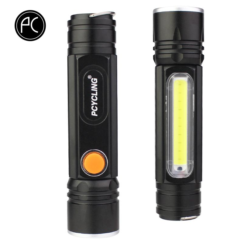 wholesale Bicycle Light Aluminum Alloy Flashlight T6 COB Led 1600 Lumens Waterproof 4 Modes USB Charge MTB Road Bike Front Light