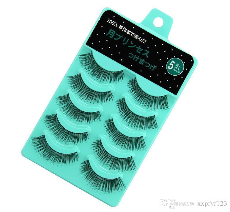 Olhos maquiagem 3d cílios de vison faixas faixas cílios de beleza cílios postiestes conjunto feito à mão feita crisscross olho lash ferramentas A845