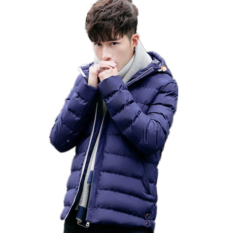 BB-C1244 2018 autumn winter new fashion trend young men's slim and hooded cotton-padded jacket coat cheap wholesale
