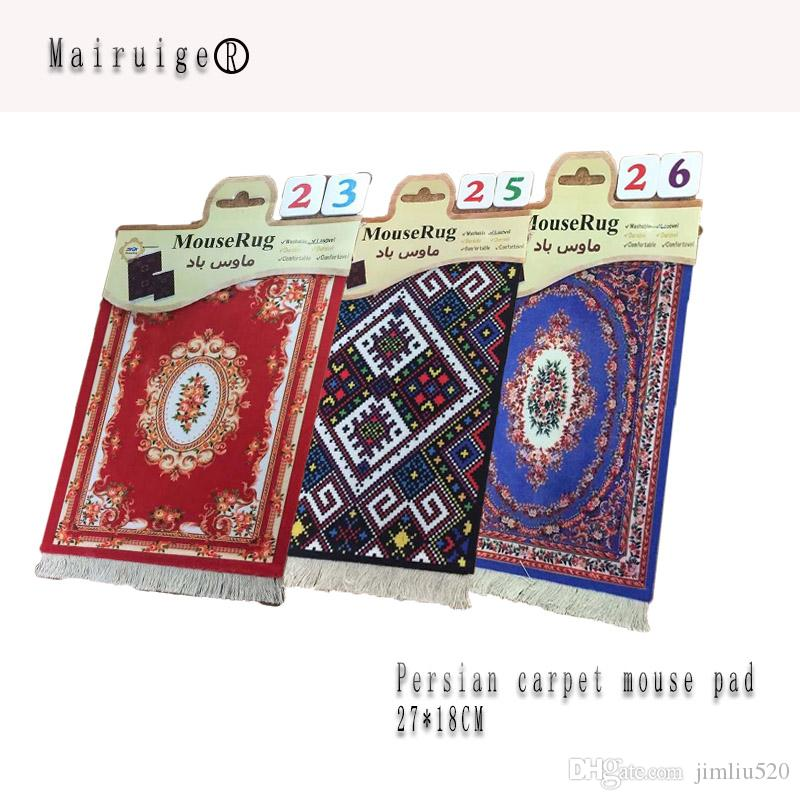 Middle East style 27*18CM Persian carpet mouse pad tea coaster mat wholesale for games and gifts free shipping