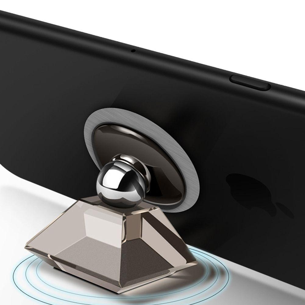 Manyetik araba telefonu braketi, Huawei Apple Samsung için evrensel araba navigasyon yaratıcı braketi-4 renk seçin