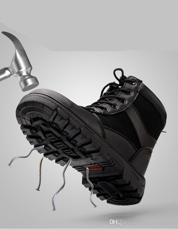 Neue Winterarbeitsversicherung Schuhe Männer hohe Werkzeugstahl Zehenkappen anti-smashing Punktion Schweißplatz Sicherheit Schuhe kalte warme Stiefel