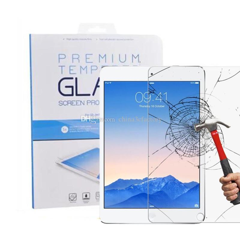 For iPAD Tempered Glass Screen Protector For Ipad Pro 9.7 10.5 Ipad mini Film Tablet Screen Protector 9H 0.4MM Tempered Glass Retail Package