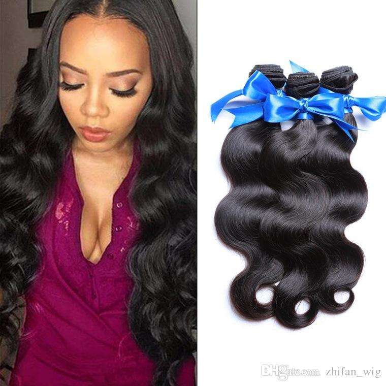 ZhiFan black body wave hair weft 16/18/20inch body wave hair for braiding hair extensions bulk 1B color synthetic fiber