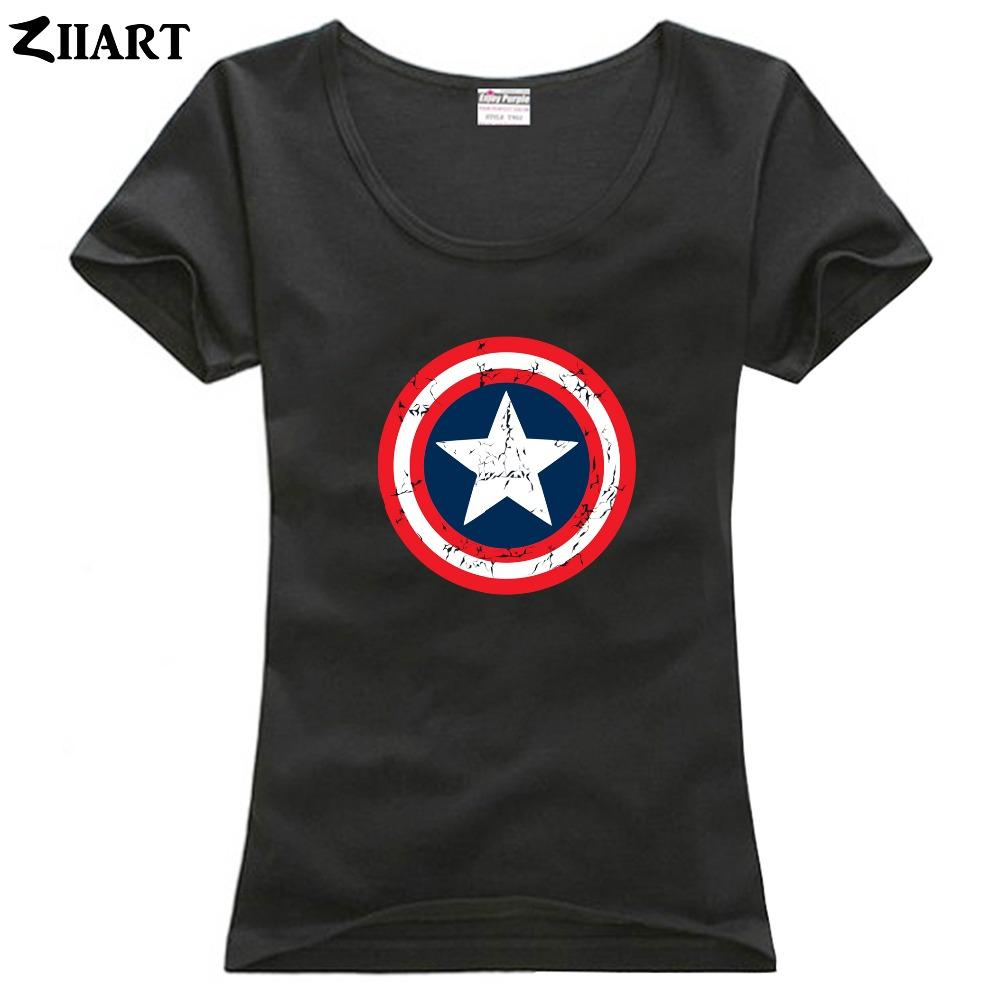 Vintage Distressed Worn shield couple clothes girl woman female o-neck cotton short-sleeve T-shirt
