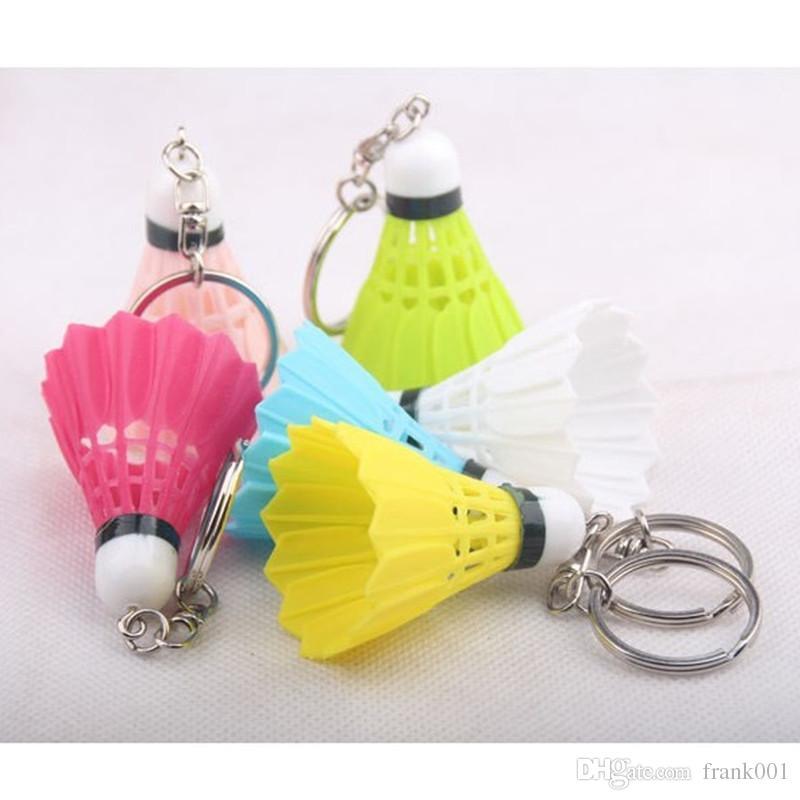 Il pendente della catena chiave di 55 * 40MM Badminton, accessori creativi del telefono mobile di Keychain mette in mostra il regalo di sport accessorio dei gioielli libera