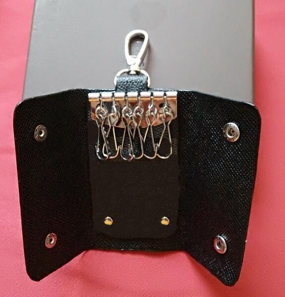 Neue Beutel Leinwand hält Lederkarte Berühmte klassische Schlüssel Münze 6 Schlüsselhalter Hohe Geldbörse Wallet Frauen Qualitätskiste Männer mit Inhaber Taschen MKJXR
