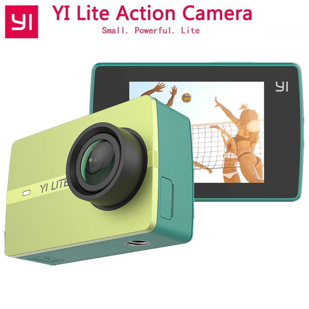 الأصلي YI لايت عمل الكاميرا 16MP ريال 4K كاميرا رياضية مع المدمج في WIFI 2 بوصة شاشة LCD 150 درجة زاوية واسعة عدسة