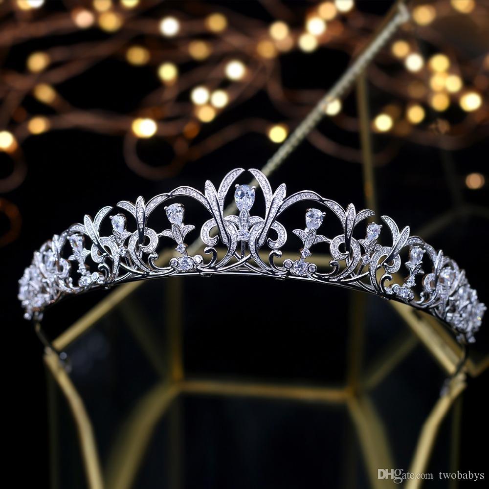Luxe Tiara de Noiva cristal Birdal Couronne Reine Vintage mariage Diadèmes Headpiece mariage Tiara Mariage Accessoires de cheveux
