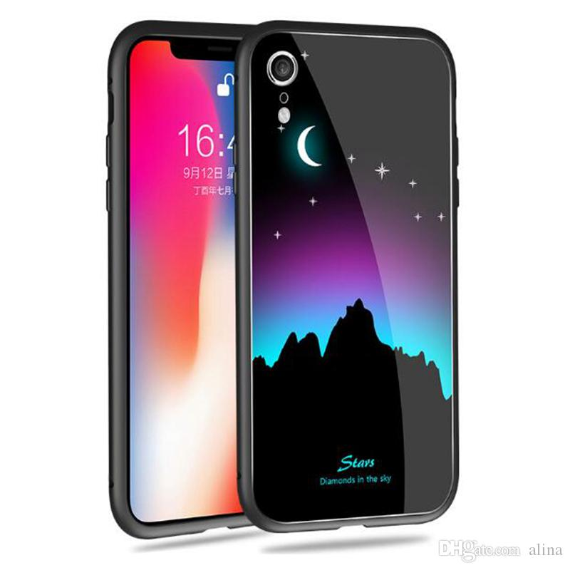 Luminous Phone Case For Iphone X XS XR XS MAX Plus Full Coverage Mobile  Phone Cases Night Light Fashion Phone Back Cover Cases Hard Cell Phone  Cases