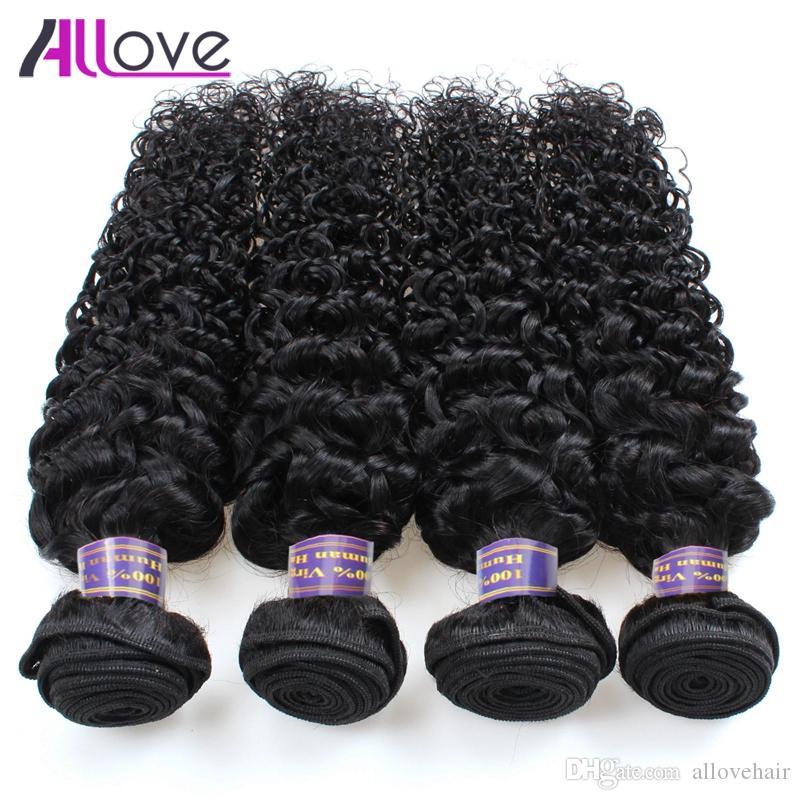 El pelo peruano indio rizado rizado paquetes del pelo de la virgen 8A paquetes brasileños del pelo 10PCS venden al por mayor el envío libre para las mujeres negras