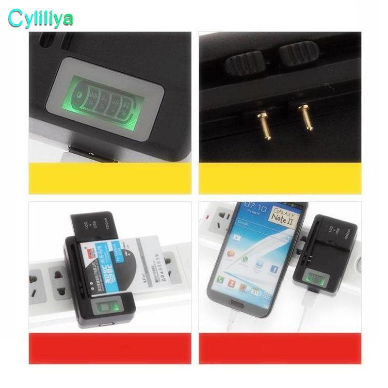 Uniwersalny ekran LCD USB AC Telefon Bateria Li-Ion Home Dock Dock Travel Carger Samsung Galaxy S3 S4 S5 Uwaga 4 Nokia Huawei Smartlphone