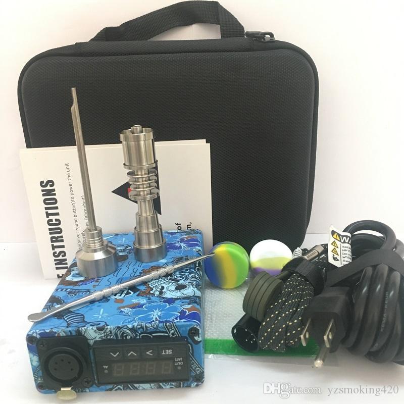 I nuovi kit ENAIL con chiodi in titanio QUartz TI 16mm 20mm flat 10mm kit dab e nail dab portatile con riscaldatore a spirale per bong in vetro