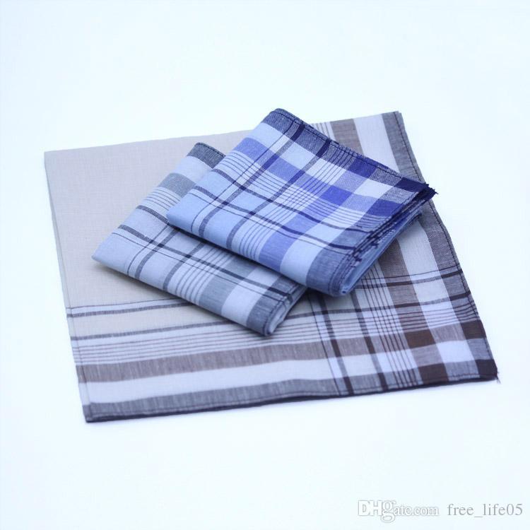 10pcs Homme Mouchoirs Handkerchief Mouchoir de Poche 100/% Coton Rayé 38*38cm L7