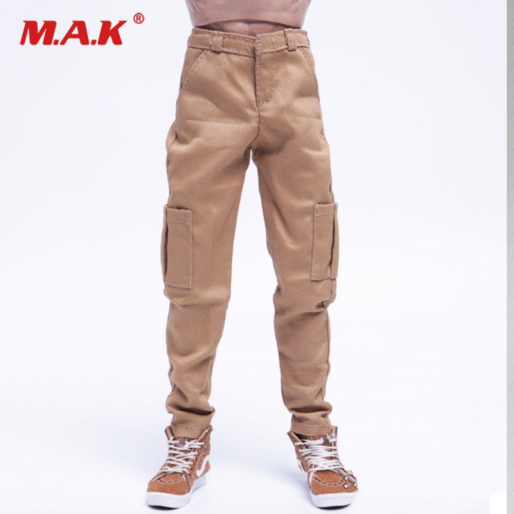 1/6 Escala Moda Masculina Calças Cáqui / Preto Casual Calças Acessório Modelo para 12 polegadas Homem Action Figure Body