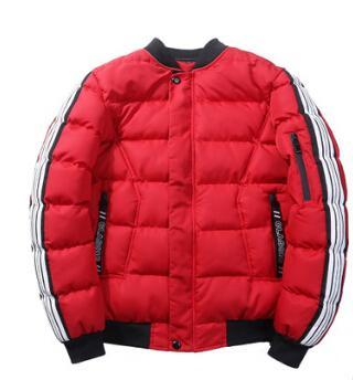 Мужчины пуховики зима Новая мода хлопка-телогрейки Толстые теплые Ветровка Пальто Мужская одежда