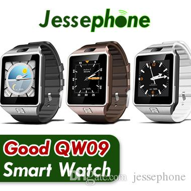 QW09 Android 3g Montre Smart Watch Wifi Bluetooth 4.0 MTK6572 Dual Core 512 Mo RAM 4GB ROM Podomètre 3G Smartwatch Téléphone Haute Qualité VS DZ09