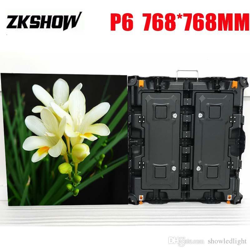 80% Off Открытый P6 Светодиодный экран Панель SMD RGB 3in1 768 * 768mm Кабинет для литья под давлением алюминия Прокат рекламные вывески с кейсе