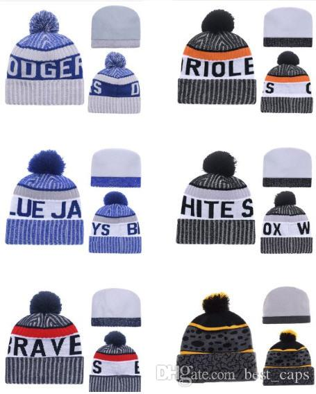 Großhandelswinter Beanie strickte Hüte Sport-Teams Baseballfußballbasketball-Mützen kapselt Frauen-Männer populäre Art und Weisewinterkappen